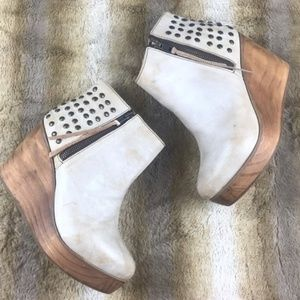 Bed Stu Ghent Distressed Studded Wedge Boots 11